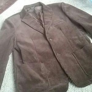 Andrew Fezza Mens brown corduroy sport coat